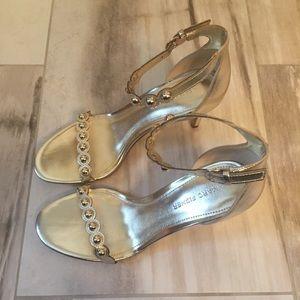 Marc Fisher Belia Gold Sandals